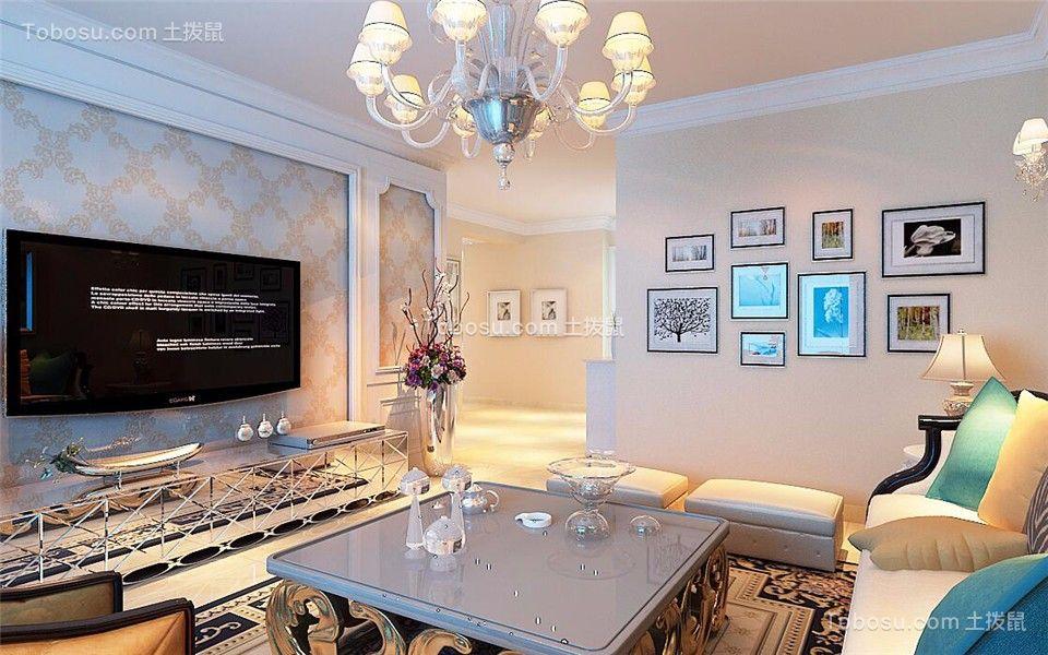 欧式风格139平米楼房新房装修效果图