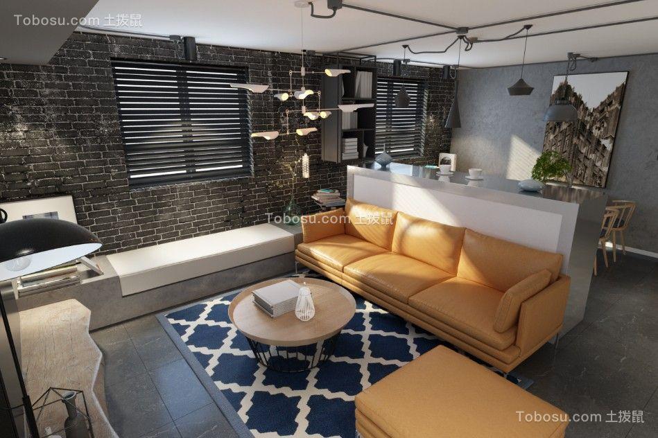 现代风格125平米三房两厅新房装修效果图