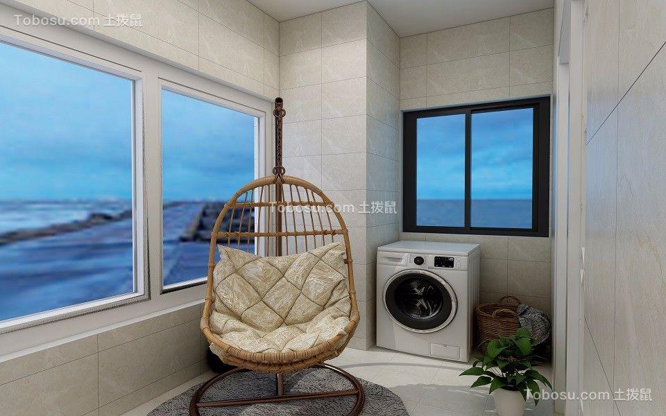 阳台白色窗台现代风格装饰设计图片
