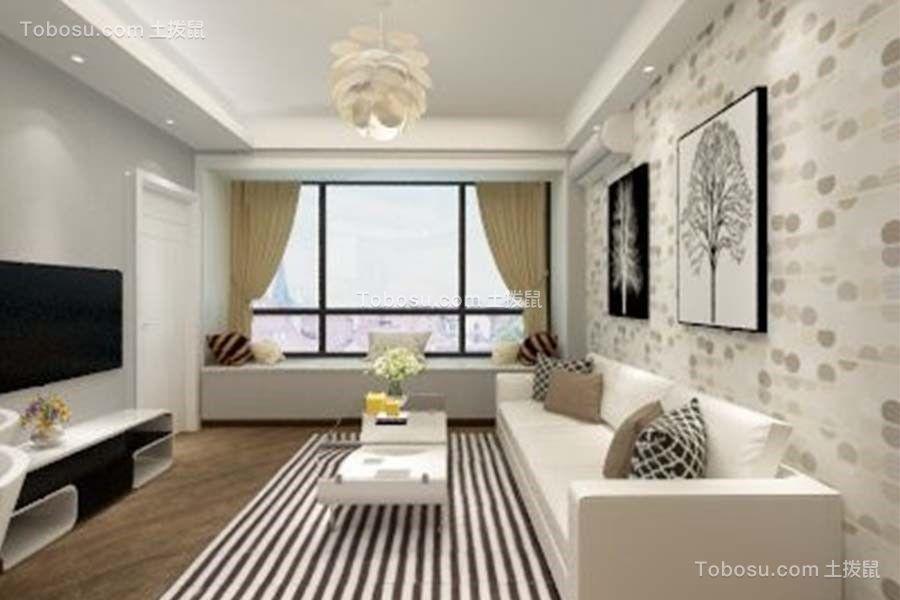 简约风格50平米一房两厅新房装修效果图