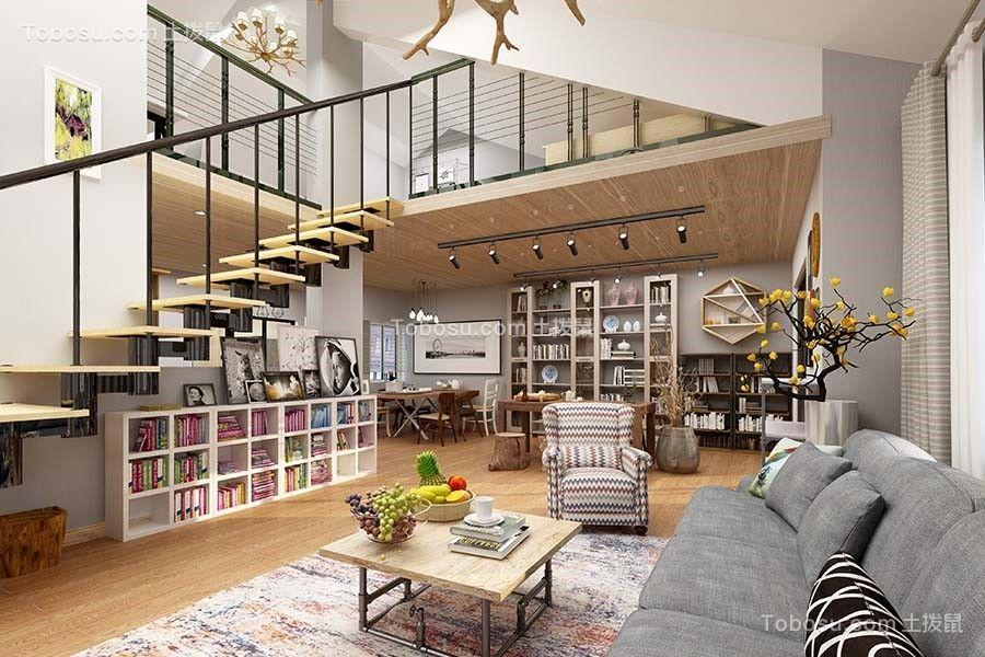 现代风格156平米两室两厅室内装修效果图