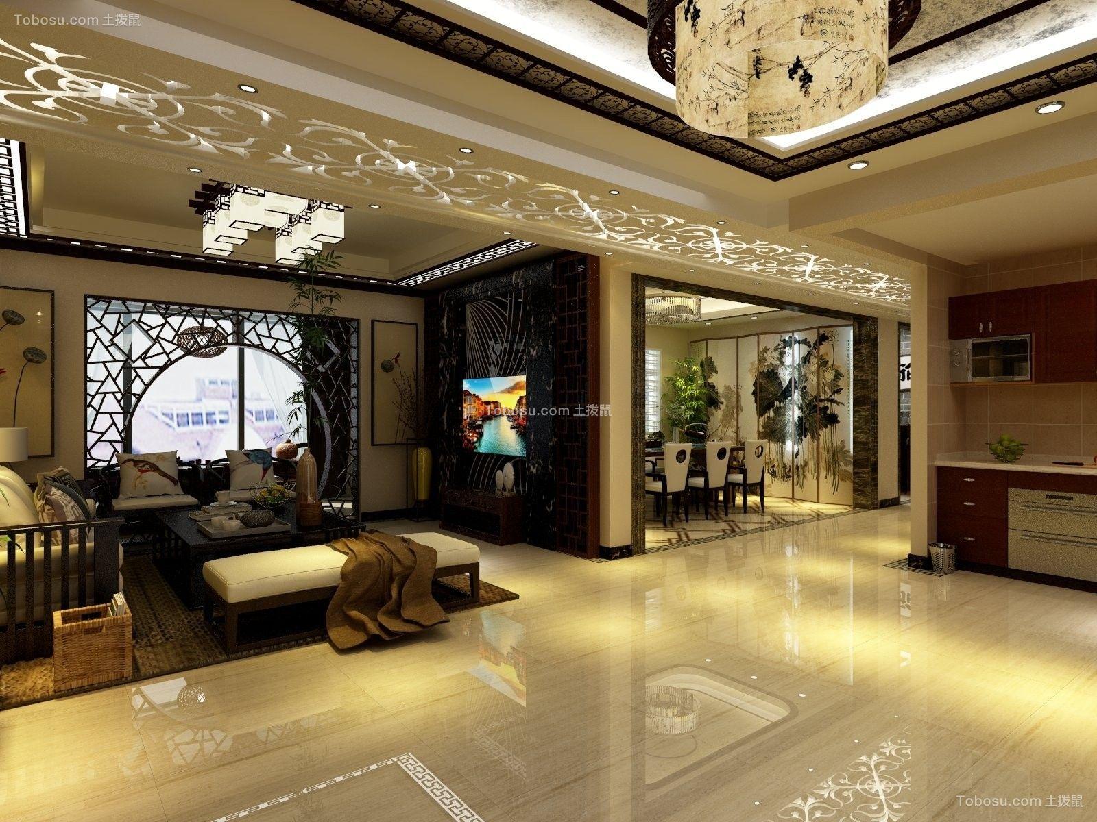 上海163平新中式163平米新中式风格效果图