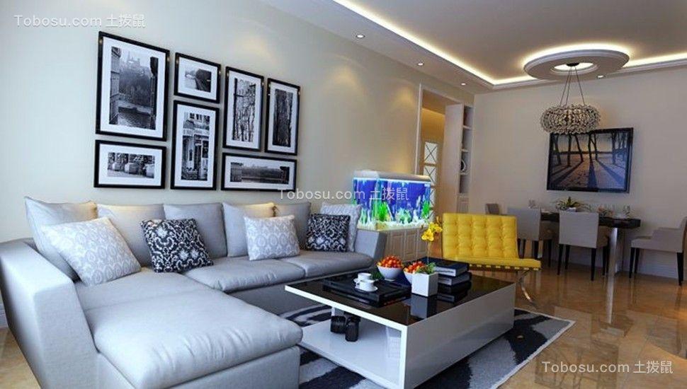 客厅米色吊顶现代风格装修图片