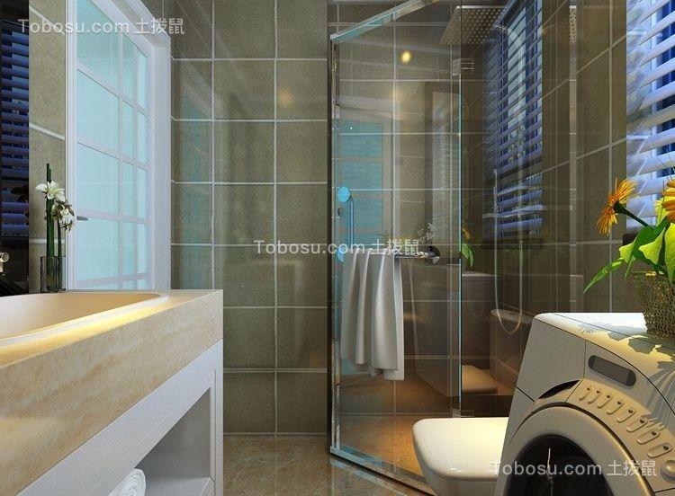 卫生间米色洗漱台现代风格装饰图片