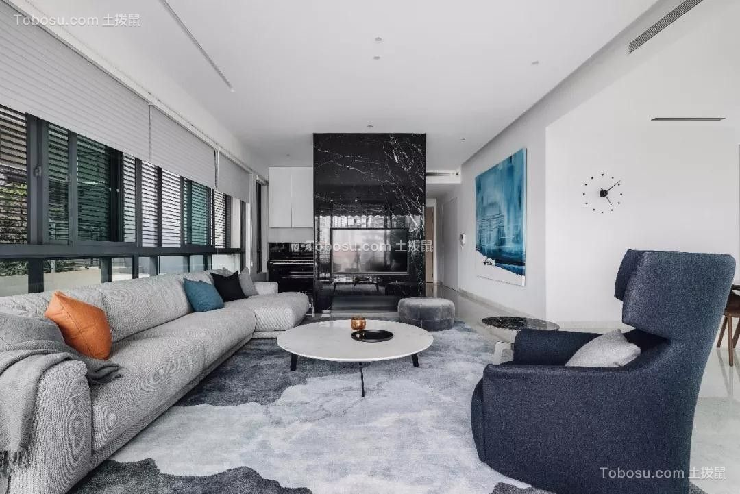 2018现代客厅装修设计 2018现代吊顶设计图片
