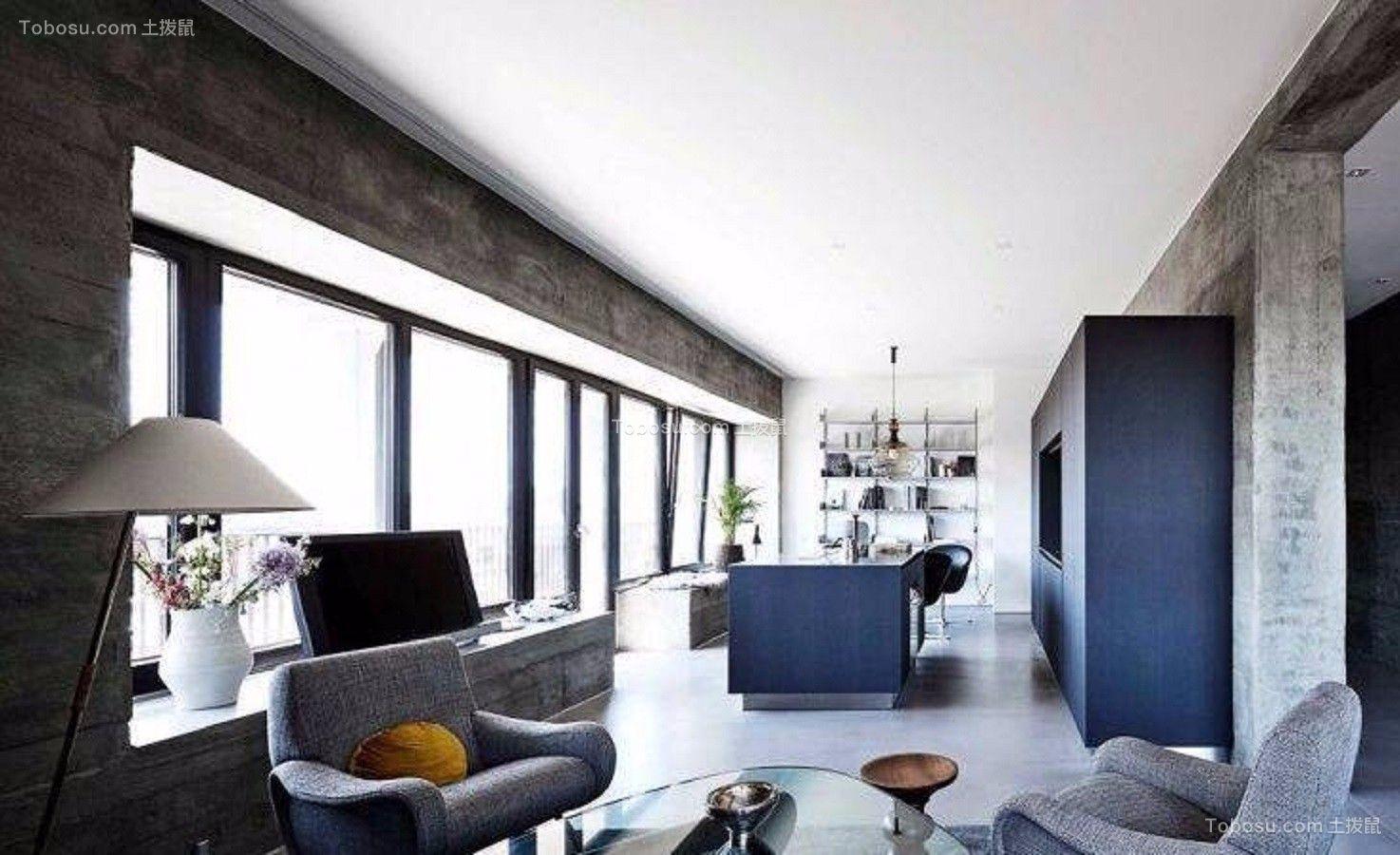 120平米三室两厅北欧风格室内装修效果图