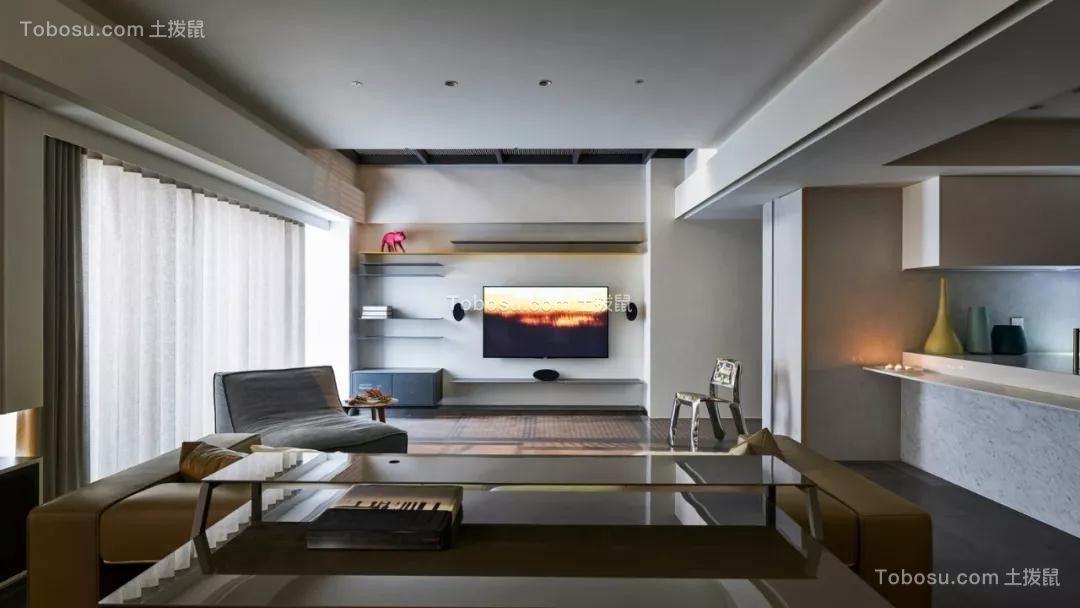 现代简约风格160平米三房两厅新房装修效果图