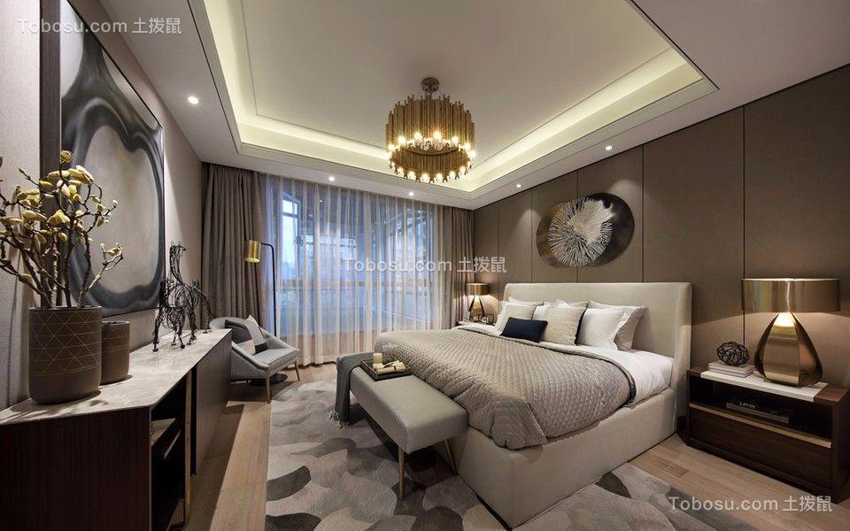 卧室白色吊顶混搭风格装潢图片