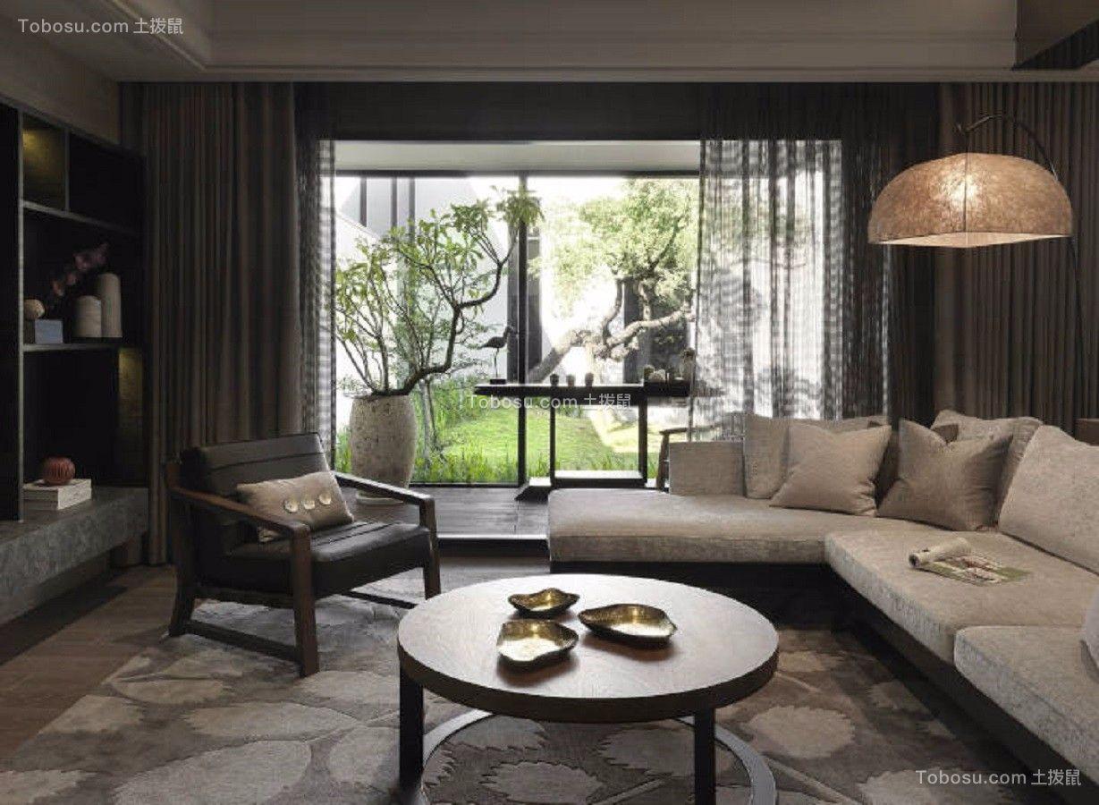 120平米两室两厅新中式风格室内装修效果图