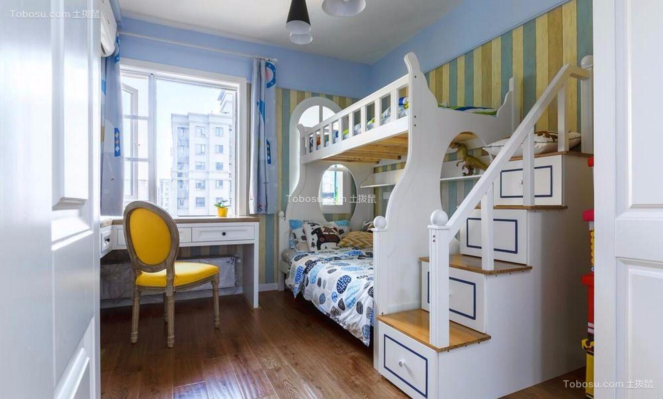 地中海儿童房背景墙装修案例效果图图片