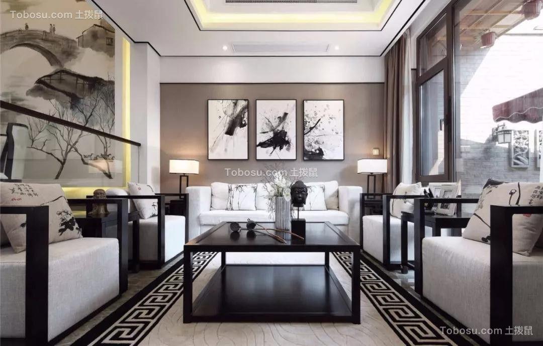 中式风格210平米四房两厅新房装修效果图