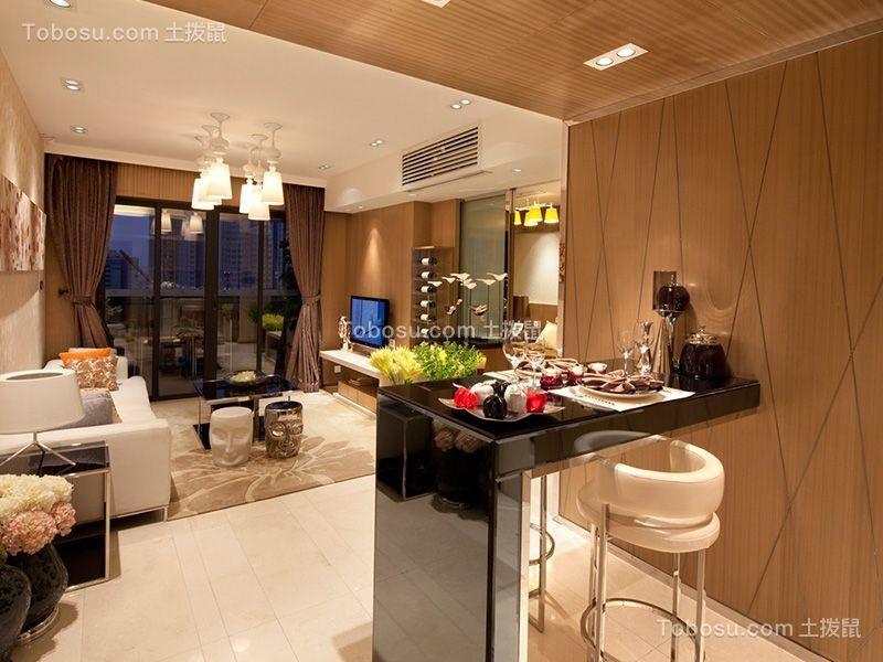 现代简约风格105平米两房两厅新房装修效果图