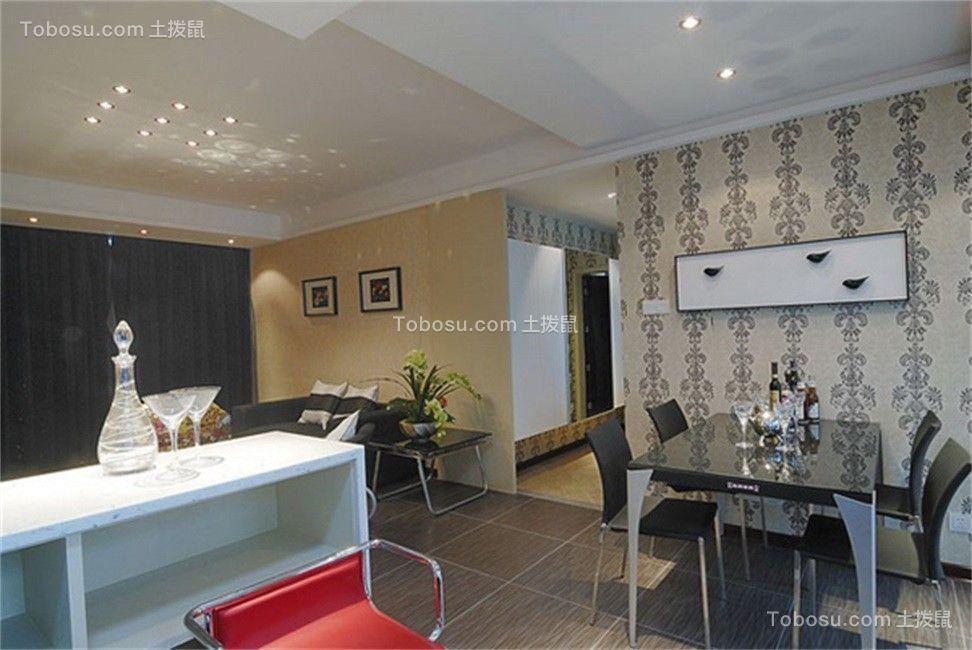 现代简约风格93平米2房2厅房子装饰效果图