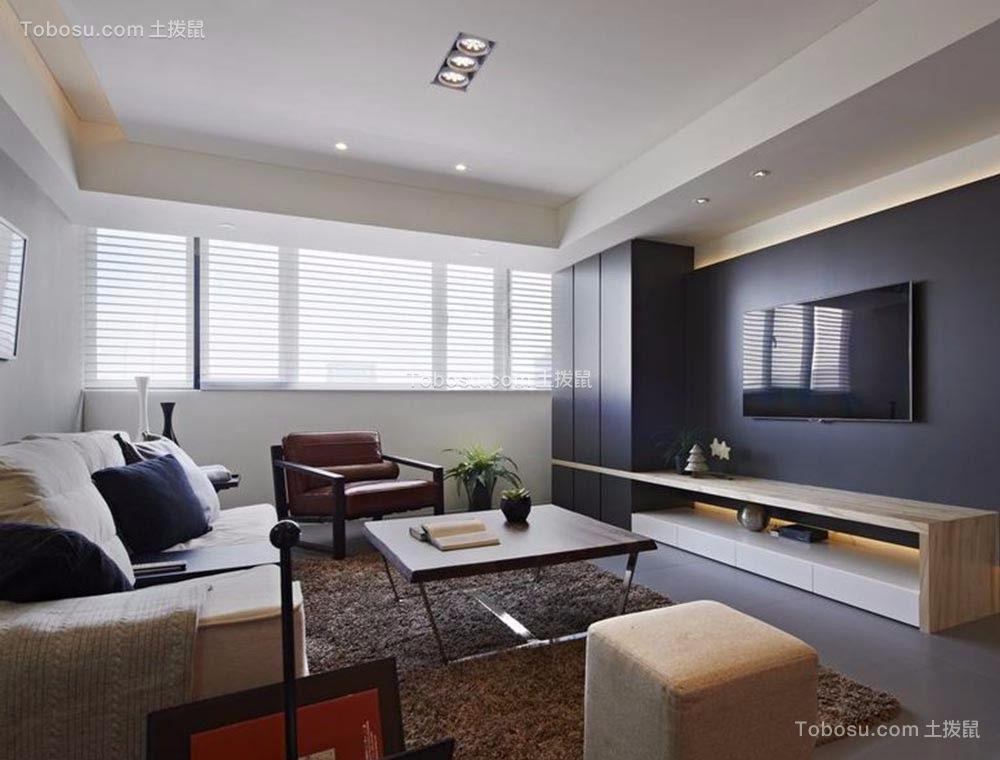 现代简约风格109平米3房2厅房子装饰效果图