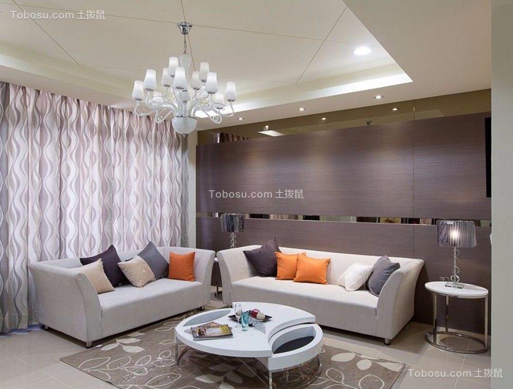 混搭风格75平米3房2厅房子装饰效果图