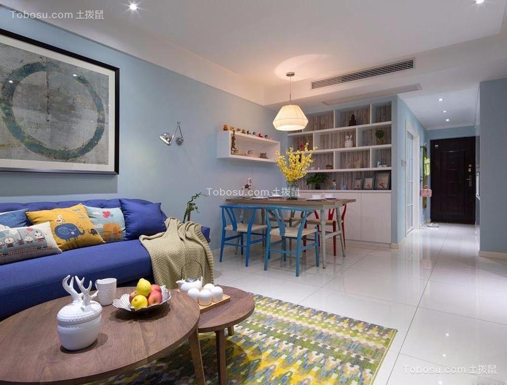 现代简约风格110平米3房2厅房子装饰效果图