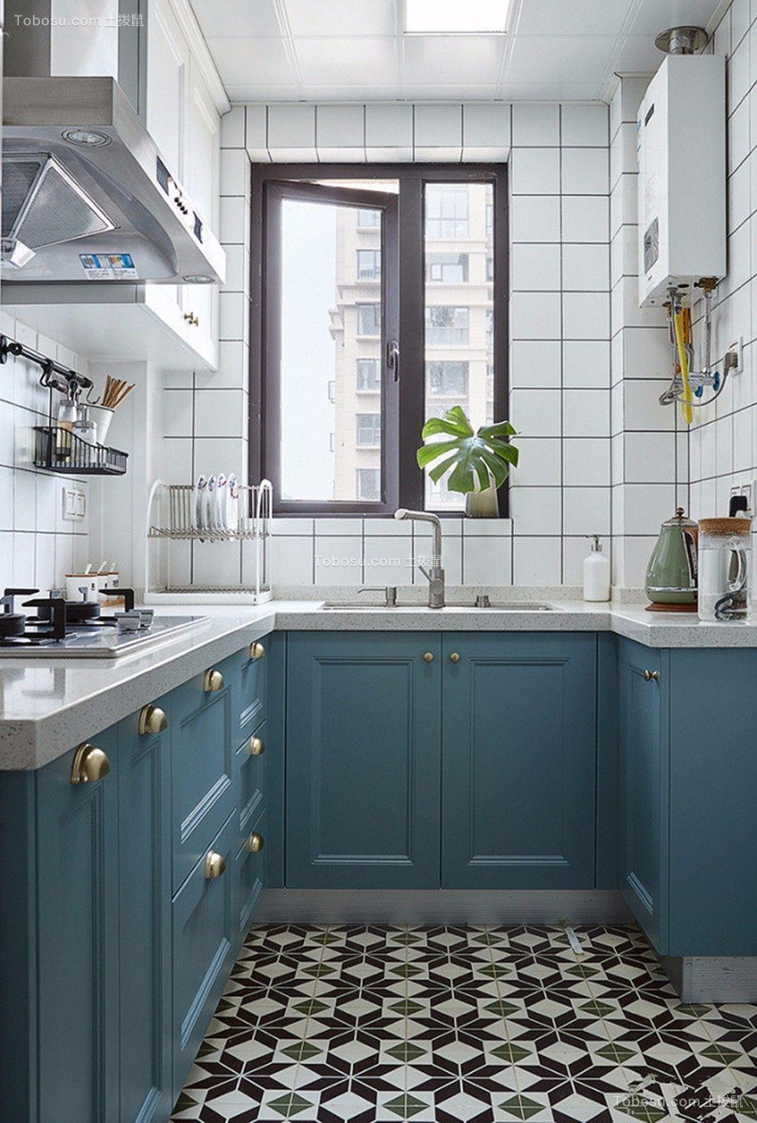 2019北欧厨房装修图 2019北欧橱柜装修设计图片