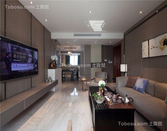 美式风格73平米小户型房子装饰效果图