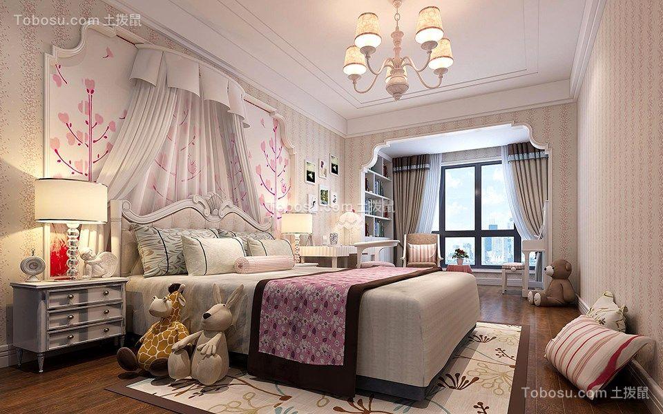 混搭风格140平米3房2厅房子装饰效果图
