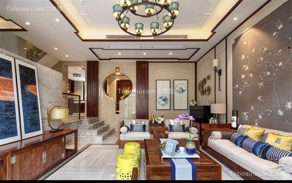 客厅白色吊顶中式风格装潢设计图片图片