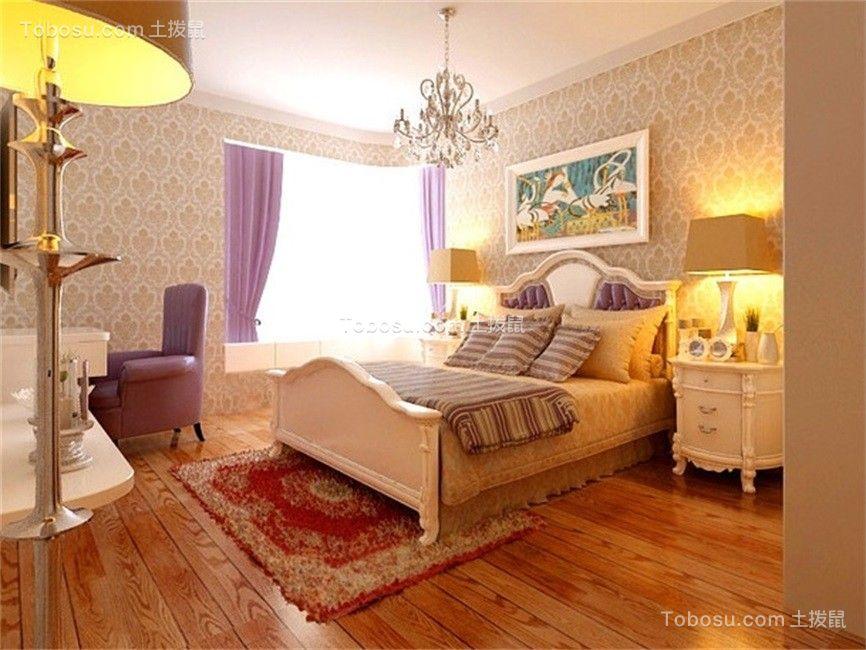 卧室 窗帘_地中海风格105平米三室两厅新房装修效果图
