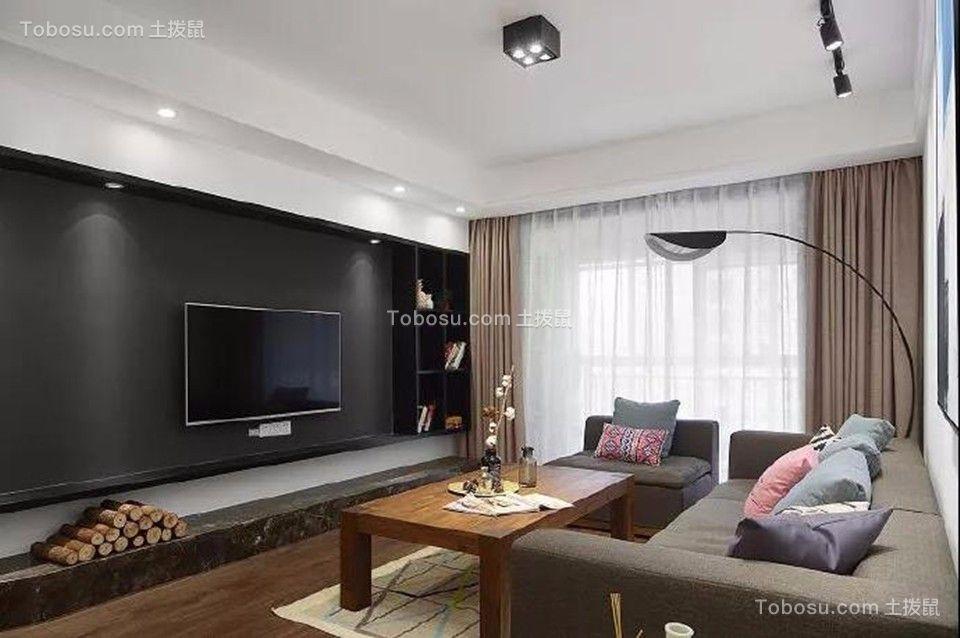 天逸城120平三居室北欧风格装修效果图