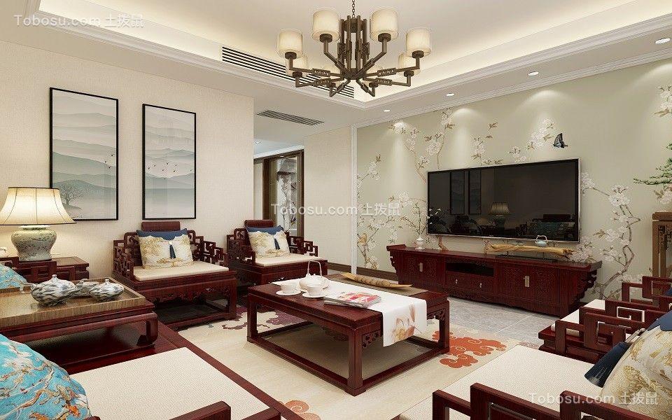 宁波丽雅苑133平米新中式风格效果图