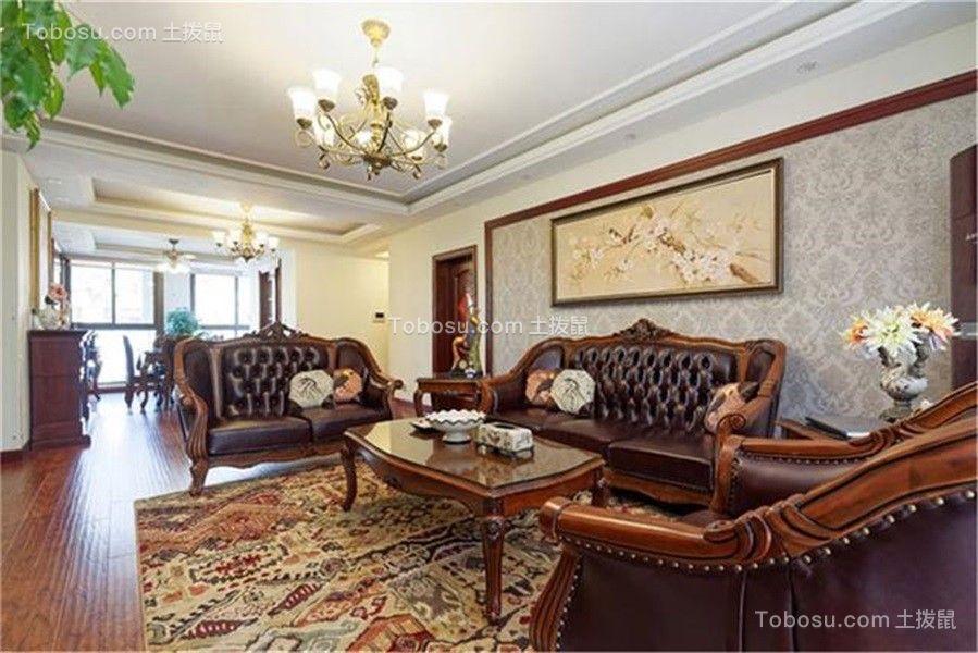 天津融科瀚棠83平米美式风格效果图