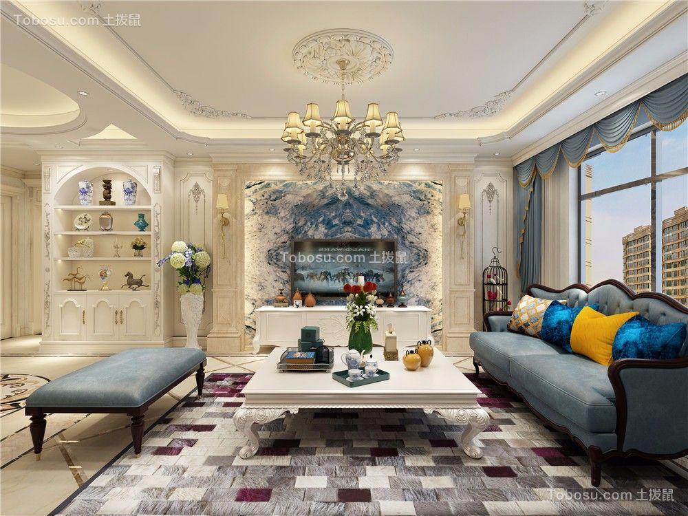 180㎡四室两厅欧式风格装修效果图