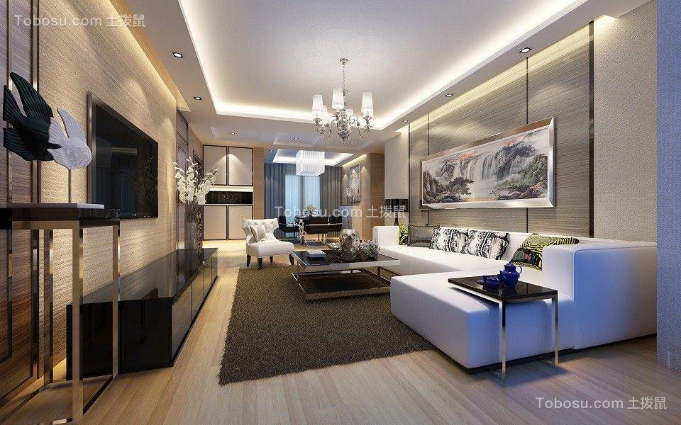 保利拉菲公馆136平现代风格四居室装修效果图