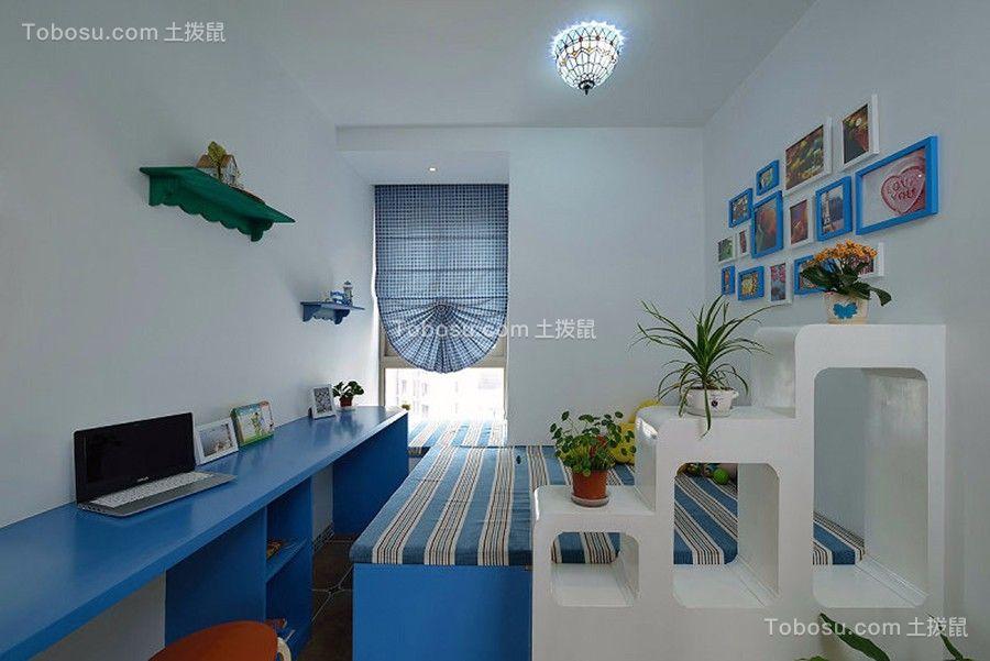 儿童房白色照片墙地中海风格装饰设计图片