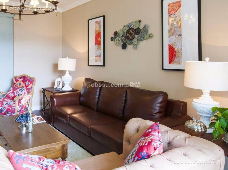 142方美式风格三居室装修效果图