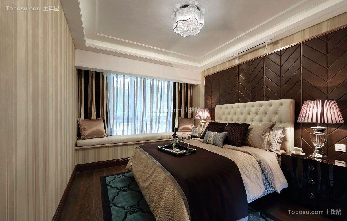 2019新中式卧室装修设计图片 2019新中式窗帘装修效果图片