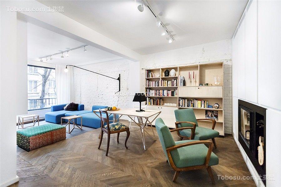 现代简约风格110平米套房室内装修效果图