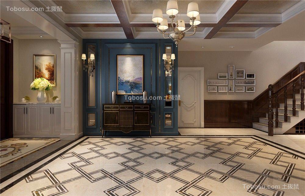玄关白色门厅欧式风格装修设计图片