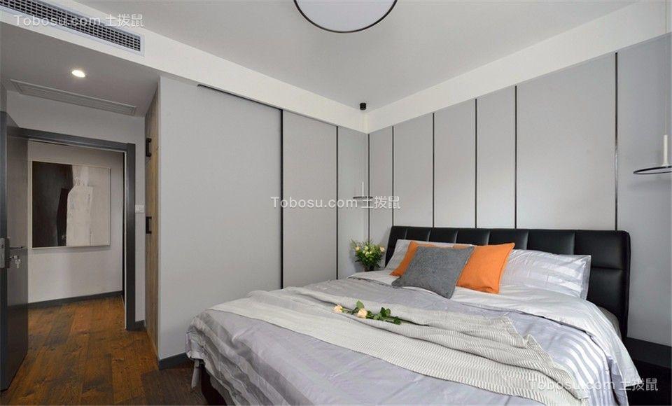 卧室黑色床现代风格装潢图片