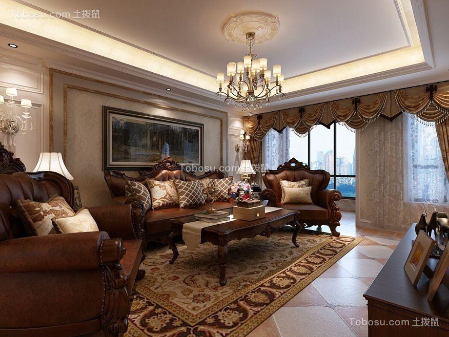 美式风格280平米四室两厅新房装修效果图