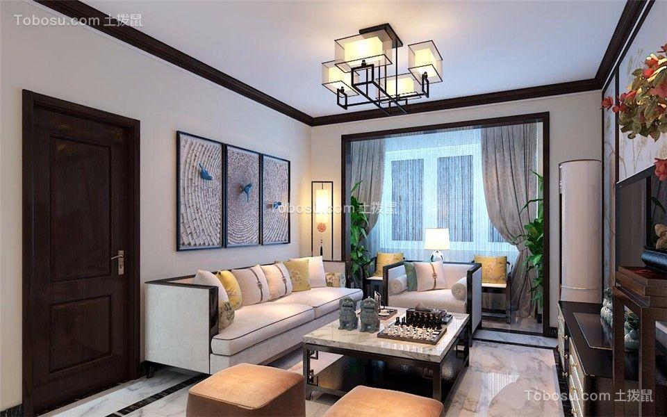 北欧风格140平米三室两厅新房装修效果图图片