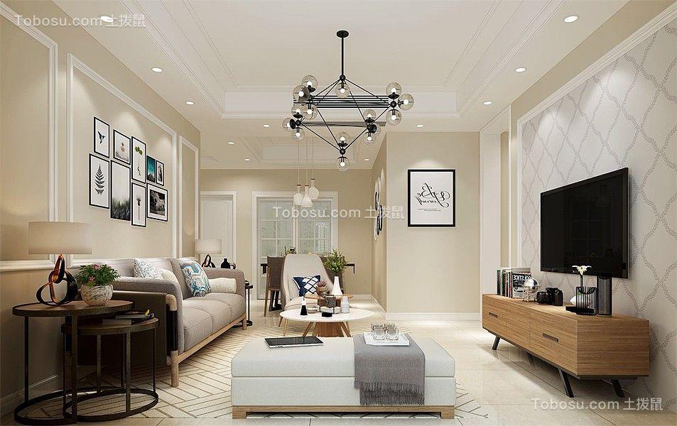 现代风格100平米套房室内装修效果图
