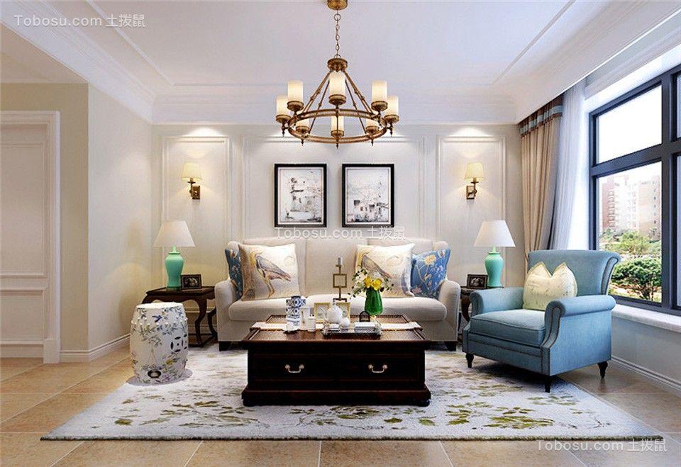 天海三期现代简约96㎡两室两厅装修效果图