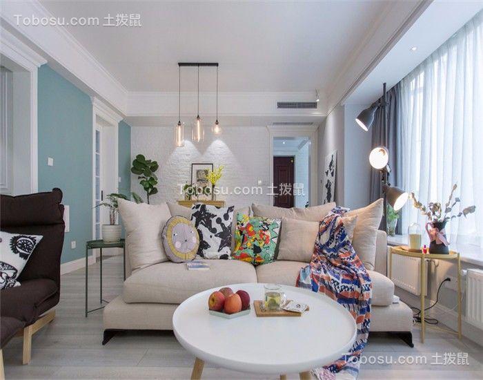 128平现代风三居室装修效果图
