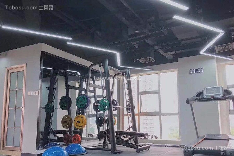 2019现代简约健身房装修图 2019现代简约走廊效果图