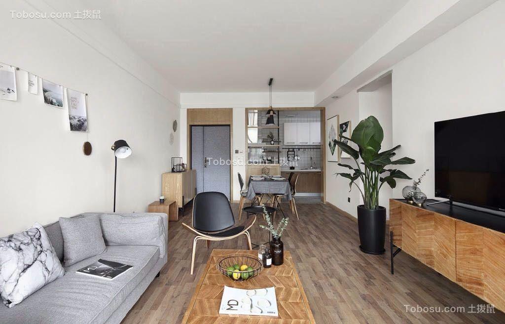 客厅灰色沙发北欧风格效果图图片