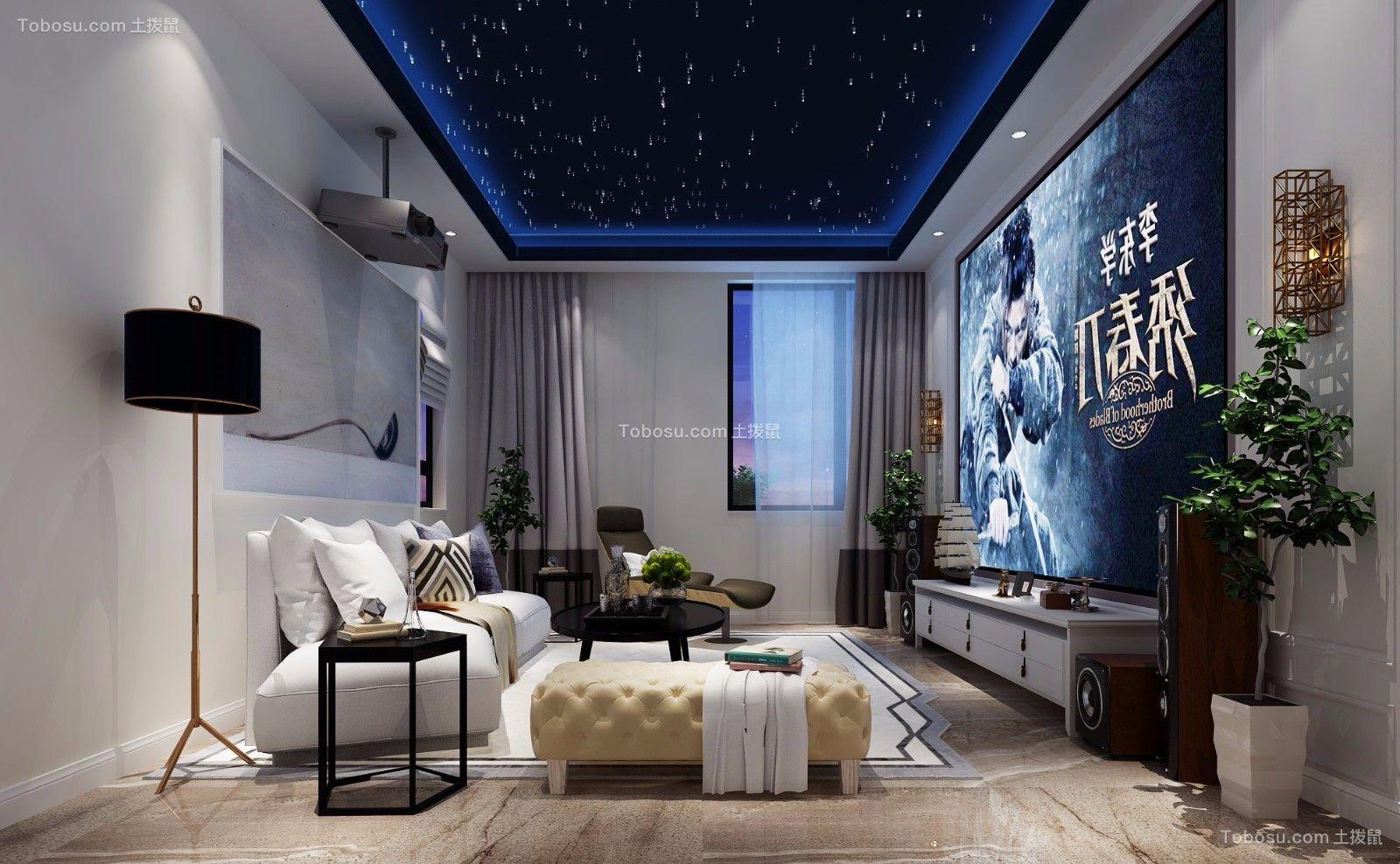 现代风格300平米别墅新房装修效果图