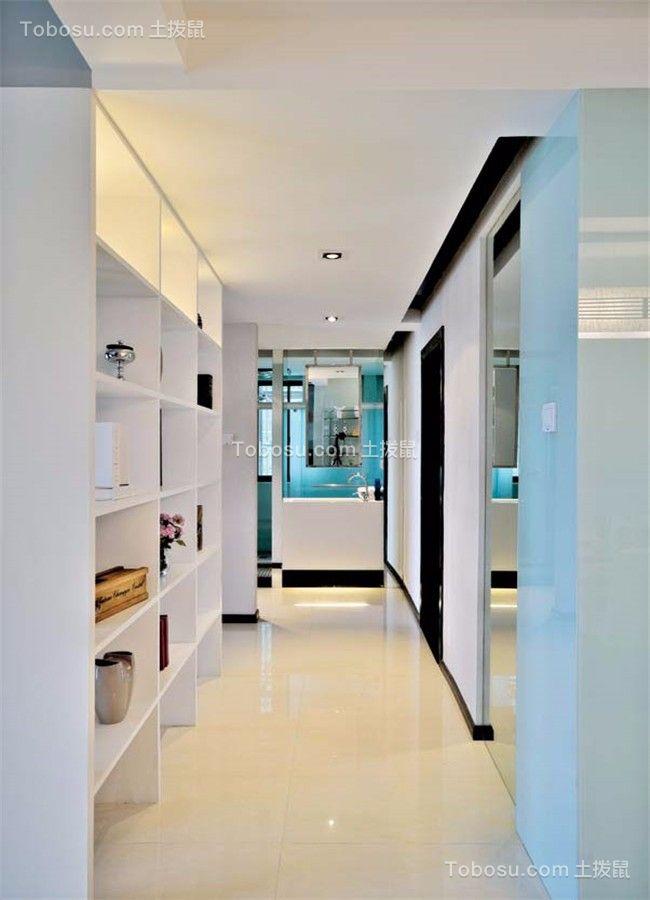 玄关白色吊顶现代风格装潢图片