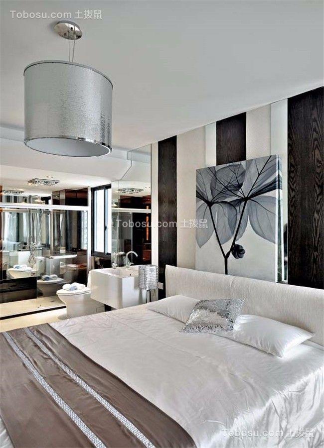 卧室白色床现代风格装修效果图