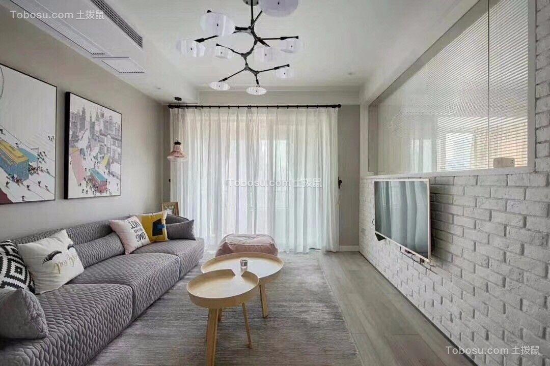 简约风格86平米两室两厅新房装修效果图