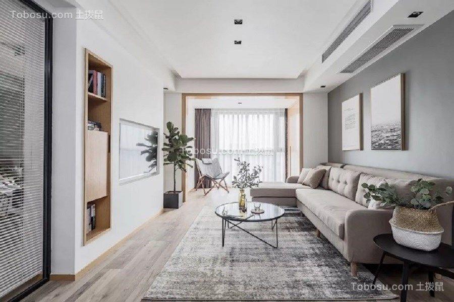 115平北欧风格三居室装修效果图