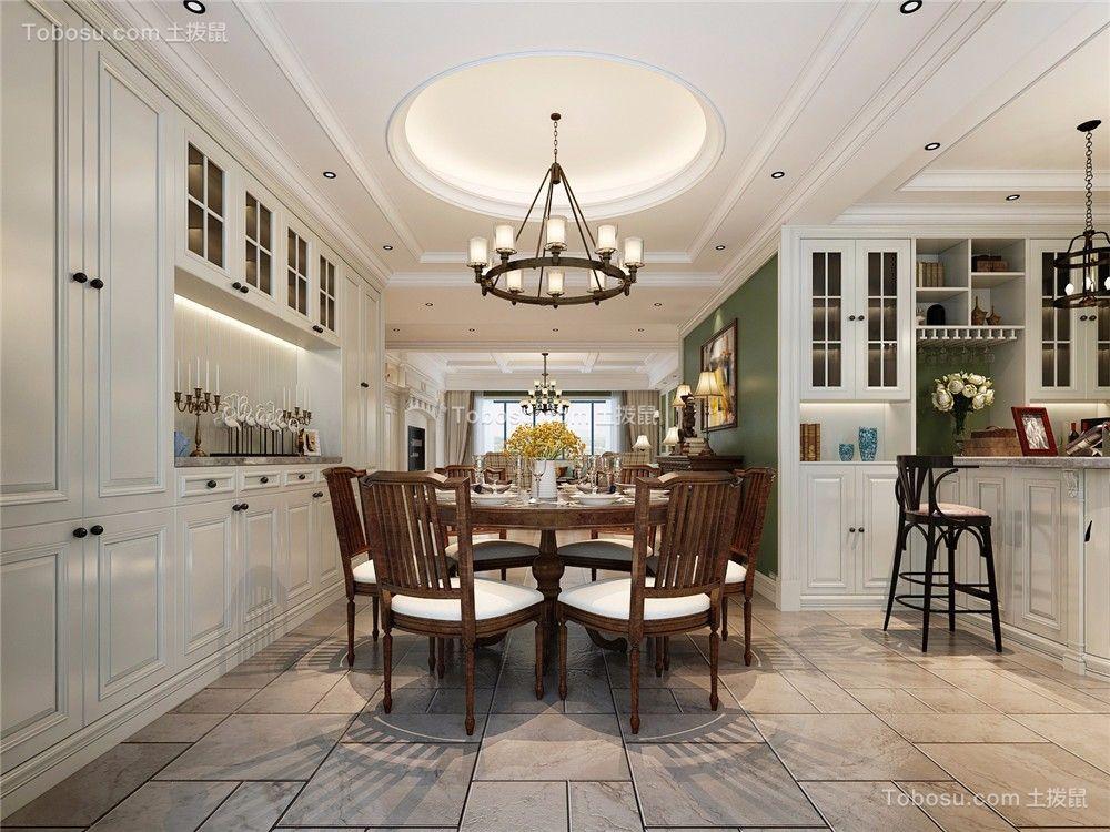 美式风格280平米别墅新房装修效果图