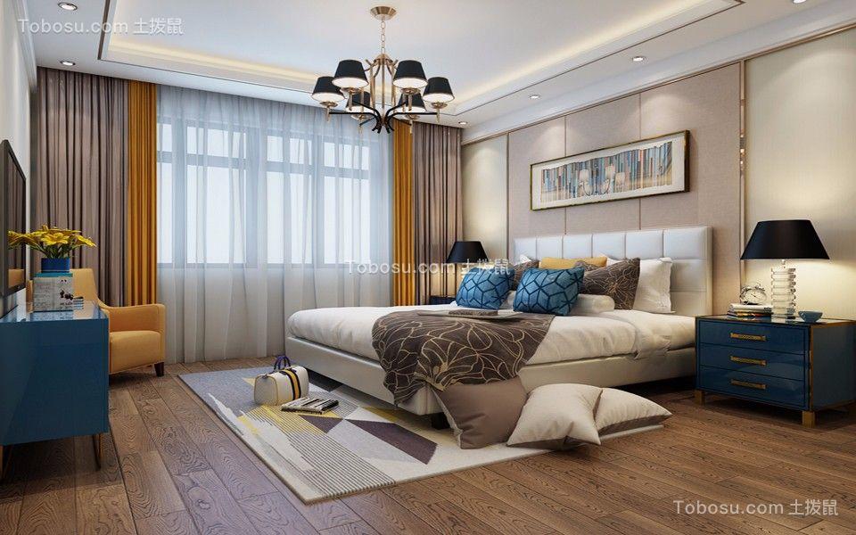 庄重现代橙色窗帘设计方案